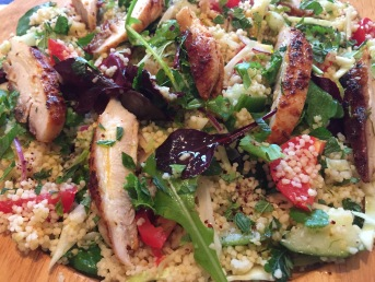 Harissa chicken with sumac cous cous